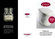 Svensk CabbyLoo-folder - Cabby Caravan AB