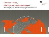 Sensorer i beton - Erfaringer og fremtidsperspektiv (760 ... - SensoByg