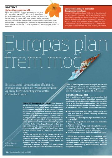 En ny strategi, reorganisering af klima- og energisparearbejdet ...