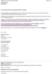 Side 1 af 2 Meddelelse om ny plan i PlansystemDK 17-08-2010
