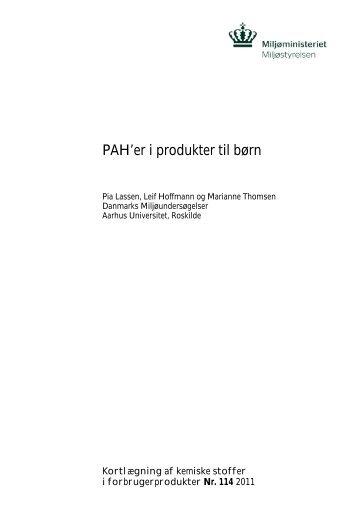 PAH'er i produkter til børn - Miljøstyrelsen