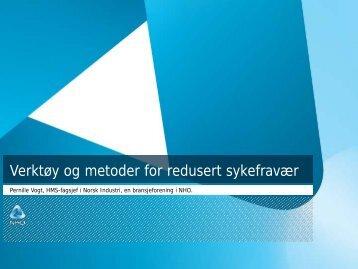 Oppfølging av sykemeldte - Norsk Industri