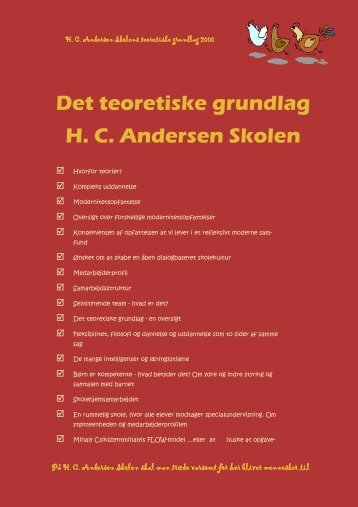 Skolens teoretiske grundlag - Skoleporten HC Andersen Skolen