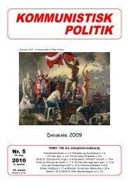 Kommunistisk Politik 5, 2010