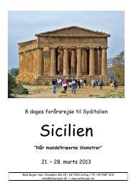 8 dages forårsrejse til Syditalien 21. – 28. marts 2013 - Tour-service