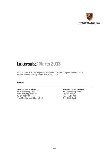 Lagersalg/ Marts 2013 - Porsche.dk
