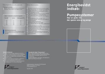 Energibevidst indkøb: Pumpesystemer - Energiledelse