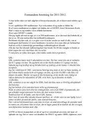 Formandens beretning for 2011/2012.