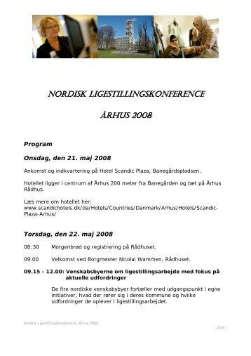 NORDISK LIGESTILLINGSKONFERENCE ÅRHUS 2008 - Turku