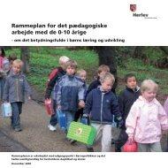 Rammeplan for det pædagogiske arbejde med ... - Herlev Kommune