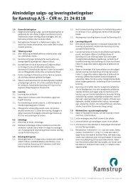 Almindelige salgs- og leveringsbetingelser for Kamstrup A/S – CVR ...