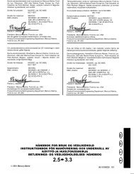håndbok for bruk og vedlikehold instruktionbok för manövrering och ...