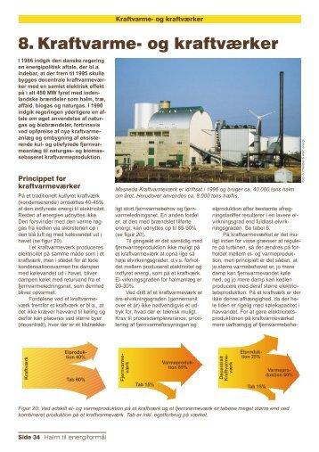 8. Kraftvarme- og kraftværker - Videncenter for Halm- og Flisfyring