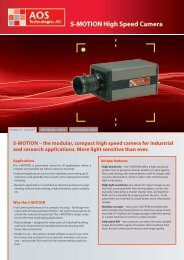 S-MOTION High Speed Camera - AOS Technologies AG