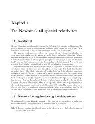 Kapitel 1 Fra Newtonsk til speciel relativitet