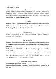 Love og regler - Danske Studenters Roklub