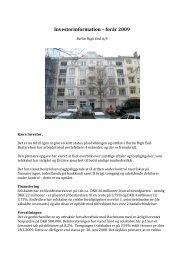 Investorinformation – forår 2009 - Berlin High End