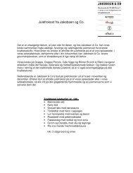 Julefrokost fra Jakobsen og Co. - JAKOBSEN & CO