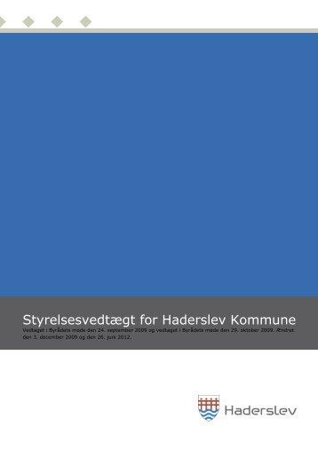 Styrelsesvedtægt for Haderslev Kommune