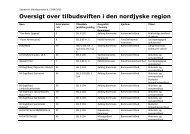 Oversigt over tilbudsviften i den nordjyske region - Rammeaftaler Nord