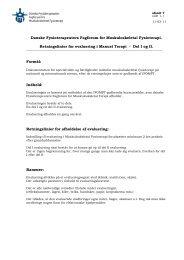 Opdateret marts 2011 (pdf) - Fagforum for Muskuloskeletal Fysioterapi