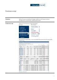 Positionsoversigt - Danske Bank