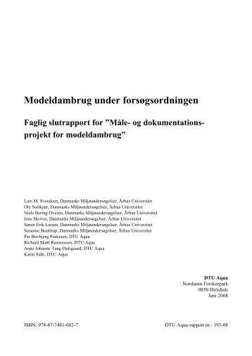Måle- og dokumentationsprojekt for modeldambrug - DTU Aqua