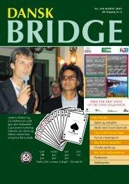 Dansk Bridge nr. 596 - Siden med 'knapperne' i den venstre ramme ...