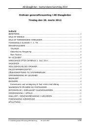 Beretning 2012 - AB Glasgården