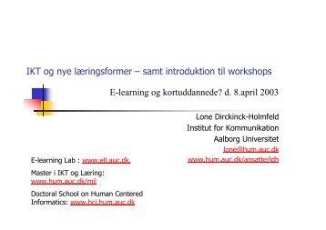 IKT og nye læringsformer - Det Digitale Nordjylland
