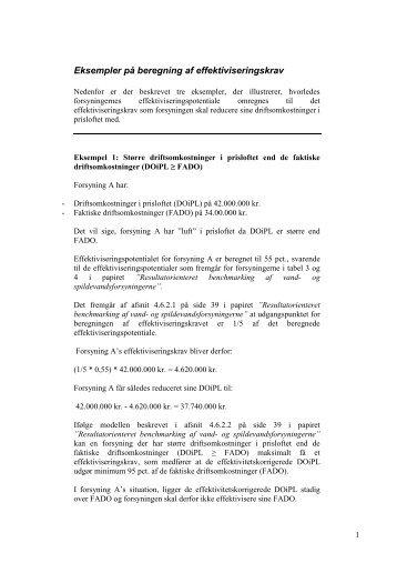 Eksempler på beregning af effektiviseringskrav