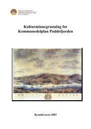 Kulturminnegrunnlag for Kommunedelplan ... - Bergen kommune