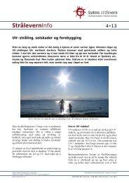 Stråleverninfo 4:2013: Ultrafiolett stråling ... - Statens strålevern