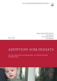 Adoption som indsats - En systematisk gennemgang af ... - SFI