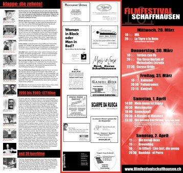 Download Programm als PDF-Datei - Filmfestival Schaffhausen