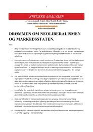 drømmen om neoliberalismen og markedsstaten. - Henrik Herløv Lund