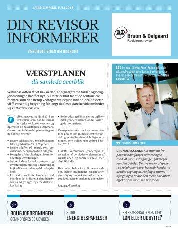 Din Revisor Informerer, Særnummer Juli 2013 - Bruun og Dalgaard