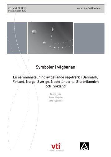Symboler i vägbanan - VTI