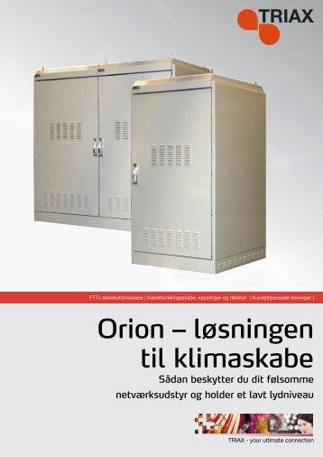 Orion – løsningen til klimaskabe - Triax