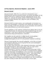 Af Thue Kjærhus, Rønshoved Højskole – marts 2005 Hannah Arendt ...