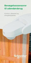 Bevægelsessensorer til udendørsbrug - Schneider Electric