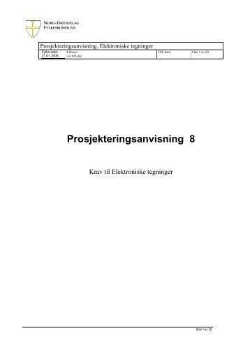 Prosjekteringsanvisning 8
