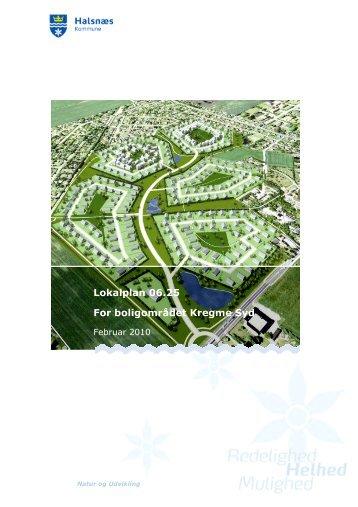 Lokalplan 06.25 For boligområdet Kregme Syd - Halsnæs Kommune