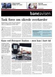Task force om sikrede overkørsler - Banedanmark