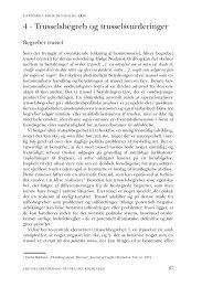 Kapitel 4. Trusselsbegreb og trusselsvurderinger - DIIS