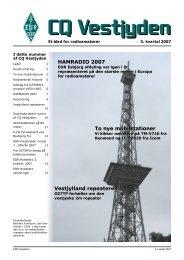 CQ Vestjyden nr. 3 2007. PDF - EDR Holstebro