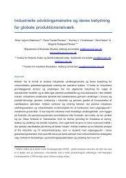 Industrielle udviklingsmønstre og deres betydning for globale ...