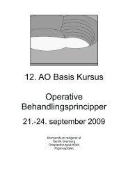 Basal Osteosyntese Teknik. - Specialespecifikke kursus
