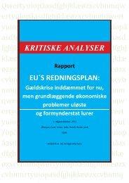 EU redningsplan - Henrik Herløv Lund