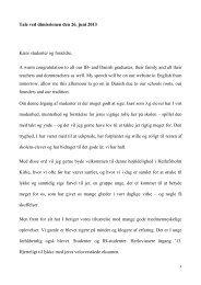 Rektors tale - dansk version - Herlufsholm
